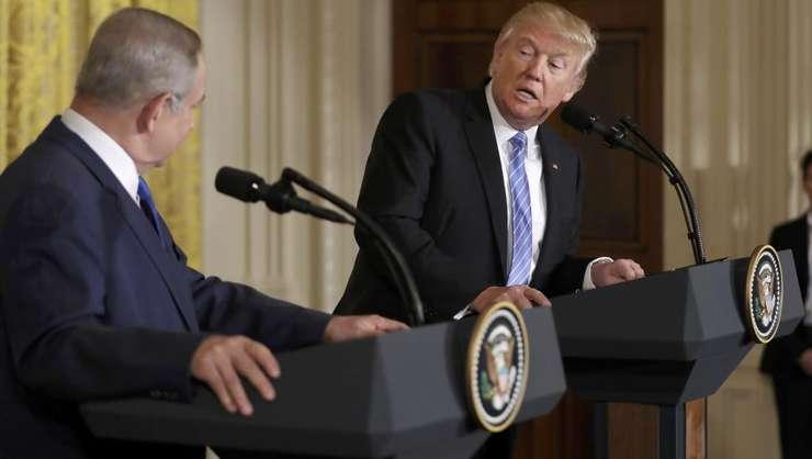 Benjamin Netaniahu si Donald Trump la Casa Alba