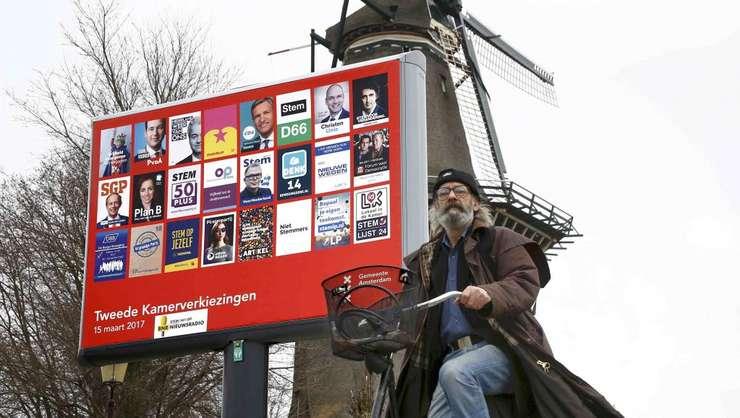 Olanda, afis electoral