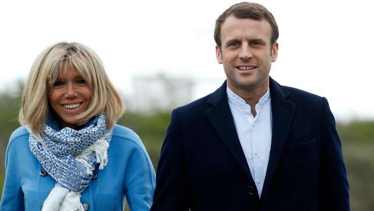 Brigitte si Emmanuel Macron