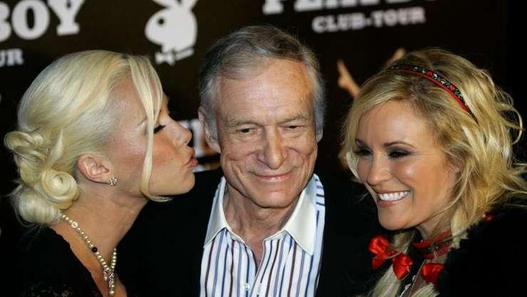 Hugh Hefner la aniversarea a 80 de ani, în 2006