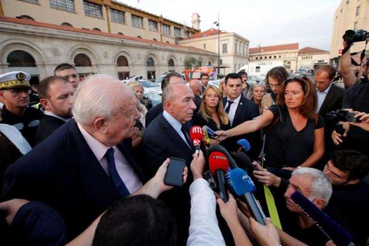 Ministrul de interne Gérard Collomb exprimîndu-se la Marsilia dupa atentat