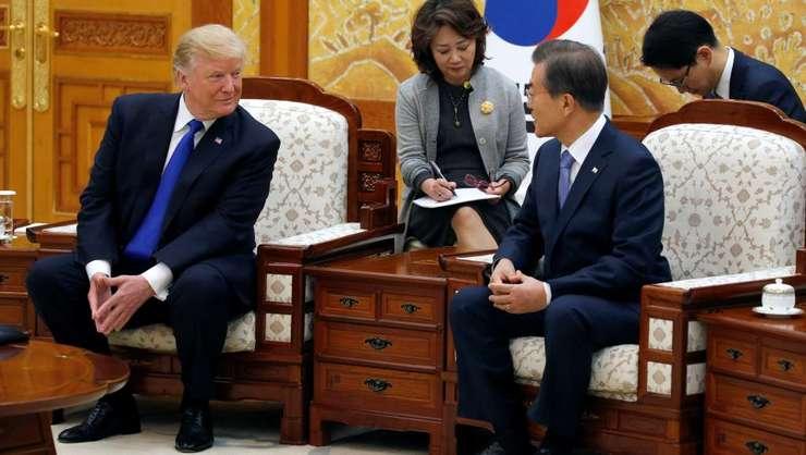 Seul, Coreea de sud: Donald Trump si Moon Jae-in