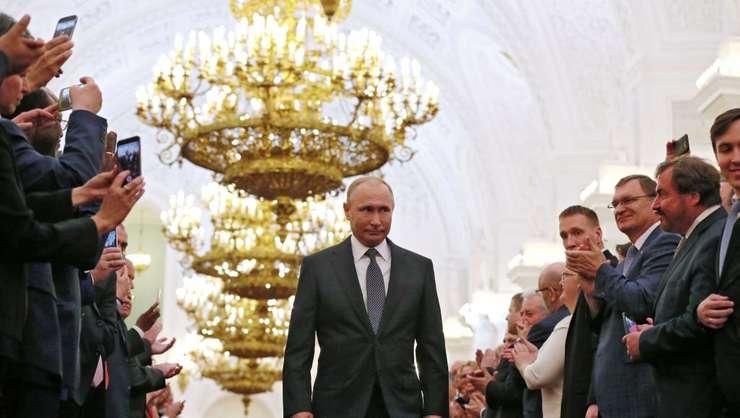 Vladimir Putin la Kremlin, 7 mai 2018