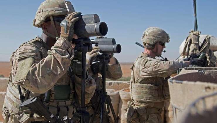 Soldaţi americani în Siria, regiunea Manbij, noiembrie 2018