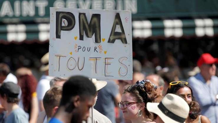 Manifestaţie la Paris în favoarea procreaţiei medicale asistate, 29 iunie 2019