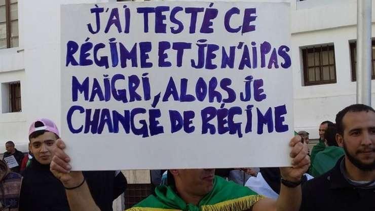 Manifestanţii algerieni nu sunt lipsiţi de umor…