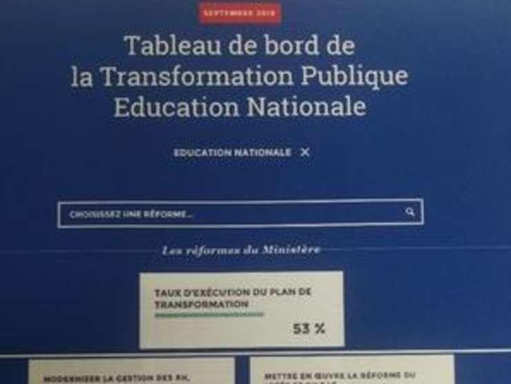 Paginà a aplicatiei cu care Emmanuel Macron poate urmàri, în timp real, treaba ministrilor sài.