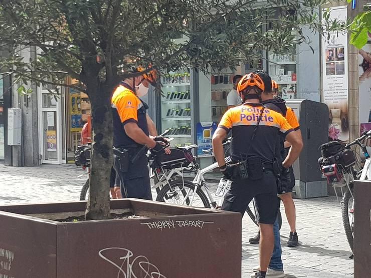 Politie covid Belgia