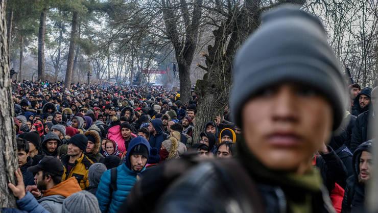 29 februarie 2020, la frontiera turco-greaca.