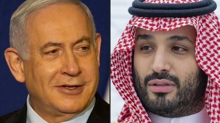 Primul ministru israelian Benjamin Netaniahu şi prinţul moştenitor al Arabiei saudite Mohammed ben Salman (montaj foto).