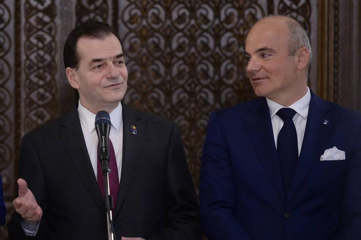 Președintele PNL, Ludovic Orban, și prim-vicepreşedintele PNL, Rareş Bogdan