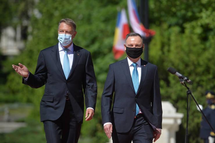 Președintele Klaus Iohannis, alături de omologul său polonez Andrzej Duda