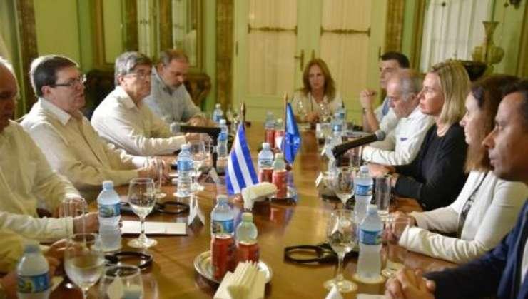 Discuţii la Havana între delegaţia europeană şi autorităţile cubaneze, 8 septembrie 2019