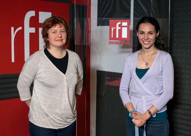 Andreea Orosz și Oana Ludmila Popescu in studioul radio