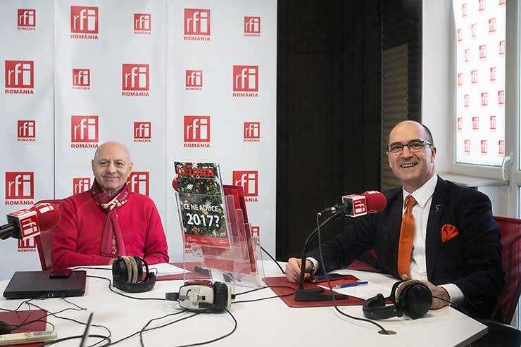 Ion BENEA şi Sergiu COSTACHE in studioul RFI Romania