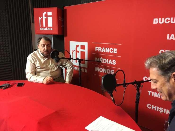 Adrian Niculescu et Nicolas Don dans le studio