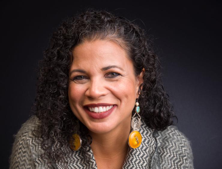 Melina Abdullah, profesoară de civilizație pan-africană la Universitatea statului California--Los Angeles