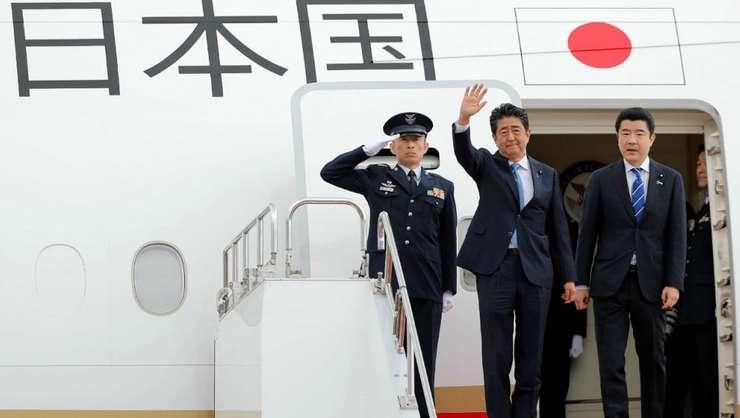Primul ministru japonez Shinzo Abe în momentul plecării spre Teheran, 12 iunie 2019