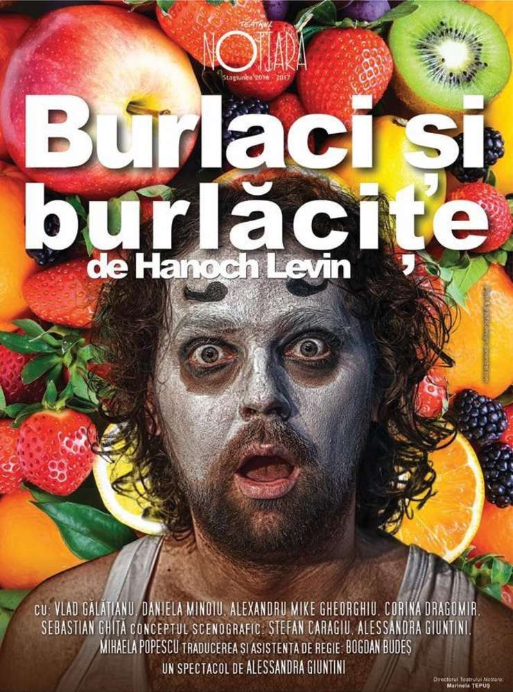 """Afișul spectacolului """"Burlaci și burlăcițe"""", Teatrul Nottara 2017"""