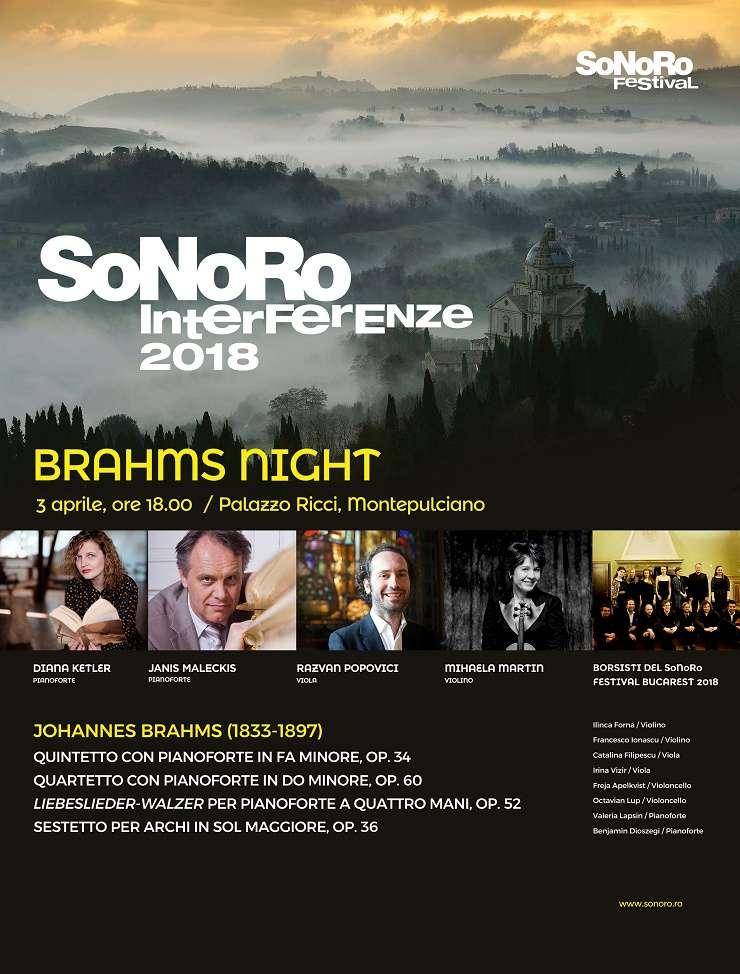 Afiș SoNoRo Interferențe - Montepulciano 2018