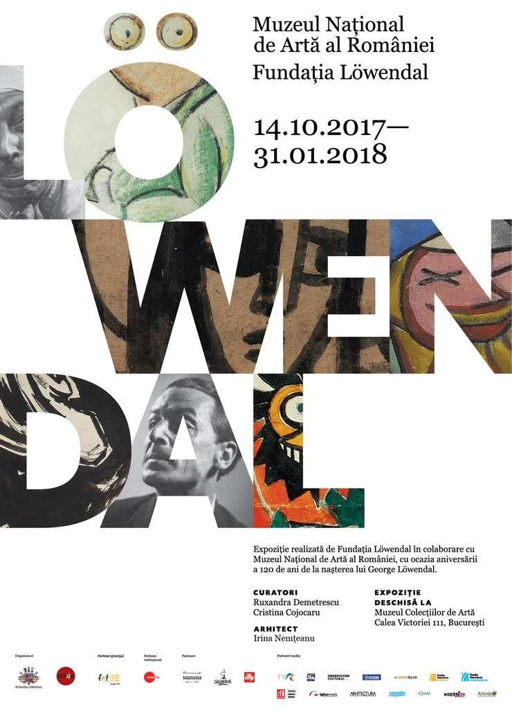 """Afiș expoziție eveniment """"În lumea personajelor lui Löwendal"""""""