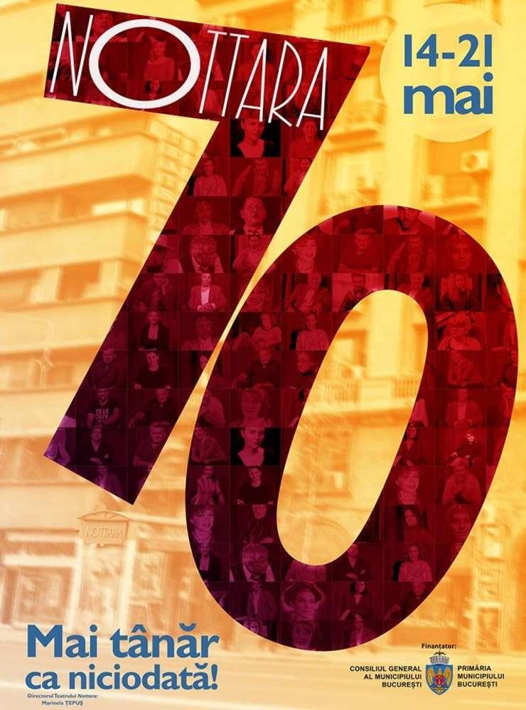 Afiș Teatrul Nottara 70 ani de existență