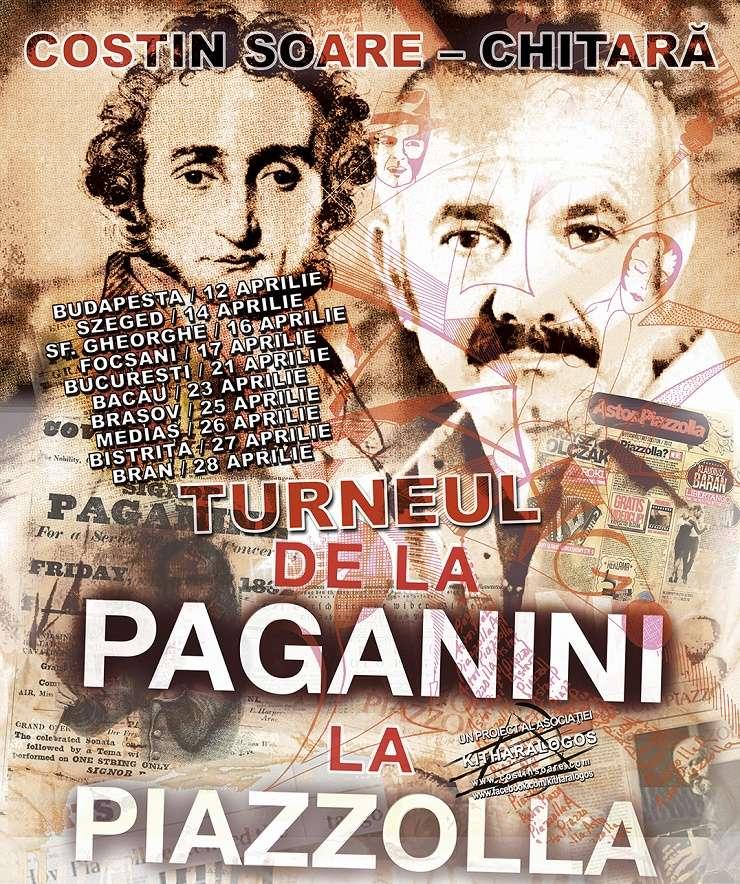"""Afiș Turneul """"De la Paganini la Piazzolla"""""""