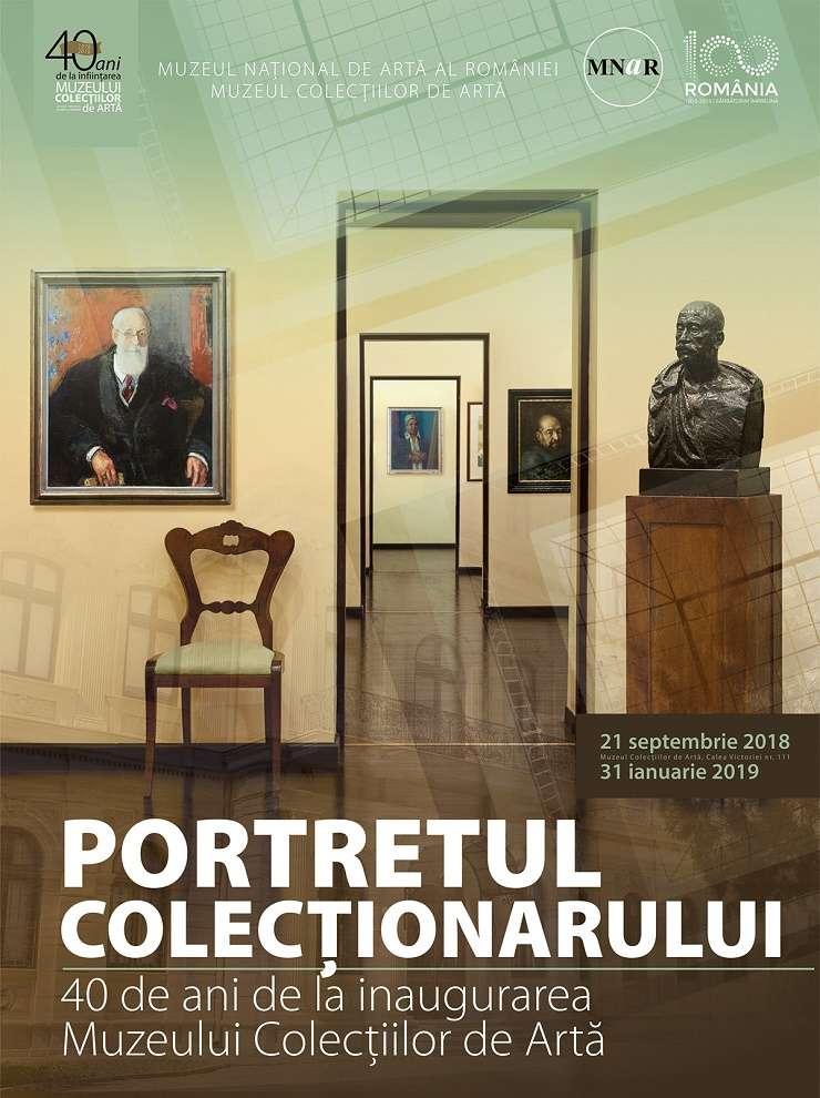 Afiș Expoziția Portretul colecționarului, Muzeul Colecţiilor de Artă
