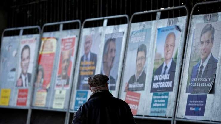 Afișe electorale în Franța