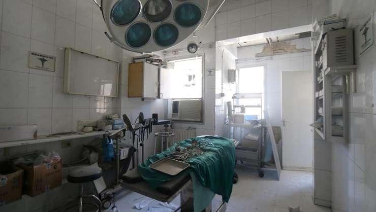 Sala de operatii a unui spital din Alep dupà un bombardament, 24 iulie 2016