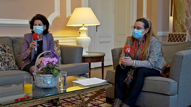 Ambasadoarea Franței la București, doamna Laurence Auer și ambasadoarea Libanului, doamna Rana Mokaddem