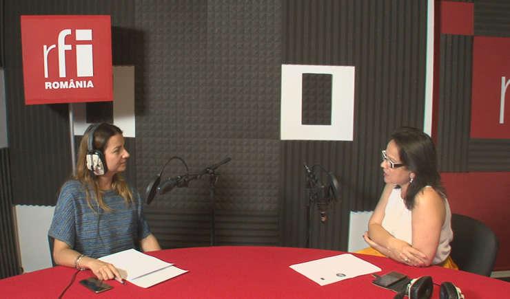 Andreea Pietroșel și Iulia Badea Guéritée la radio