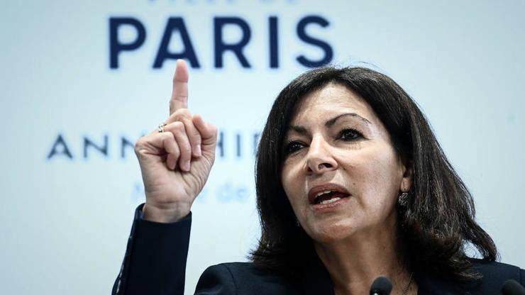 Anne Hidalgo în timpul unei conferinte de presă la Paris, 21 martie 2019.