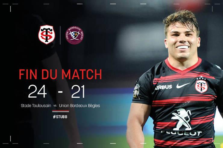 Stade Toulousain 24 Bordeaux Begles 21