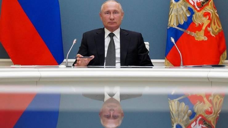 Vladimir Putin la Kremlin.