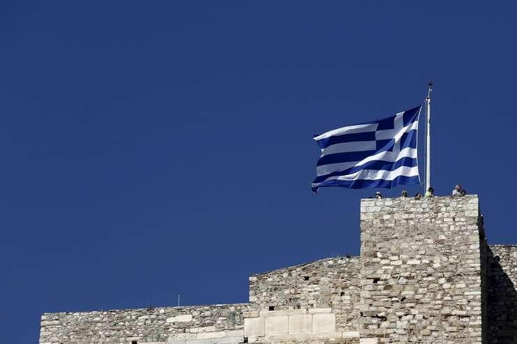 Steagul Greciei, pe Acropole (Foto: Reuters/Kostas Tsironis)