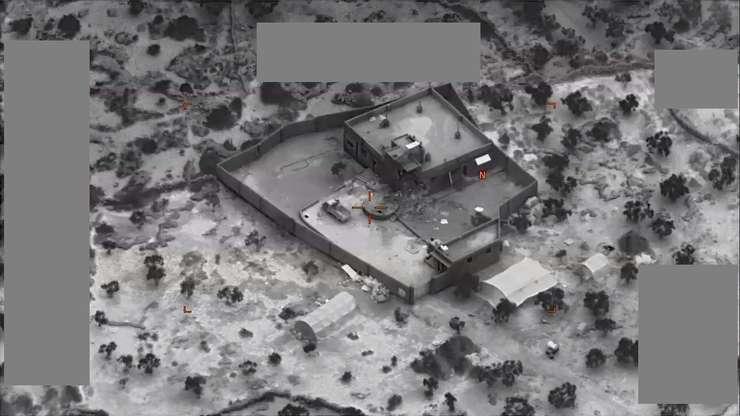Imaginea casei în care se ascundea si a fost ucis Abu Bakr al-Baghdadi, liderul ISIS
