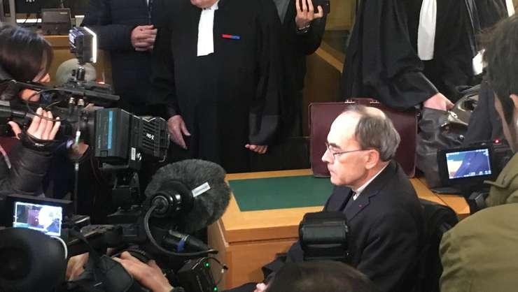 Cardinalul Philippe Barbarin la deschiderea procesului sàu de la Lyon, 7 ianuarie 2019