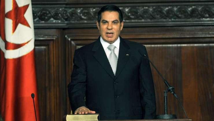 Ben Ali a fost presedinte al Tunisiei 23 de ani, între 1987 si 2011. Aici depune juràmânt în 2009 pentru al 5-lea mandat prezidential