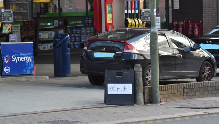Benzinărie în nordul Londrei