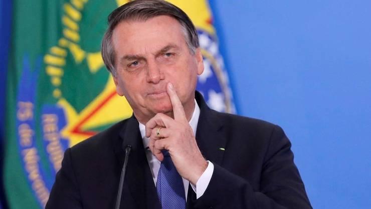 Preşedintele brazilian de extremă dreapta Jair Bolsonaro.