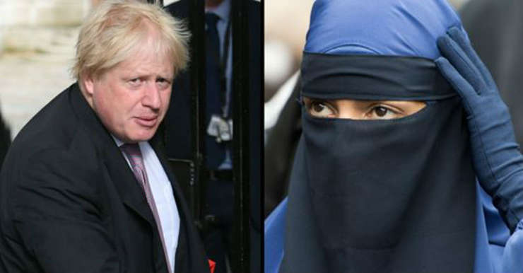 Boris Johnson burqa
