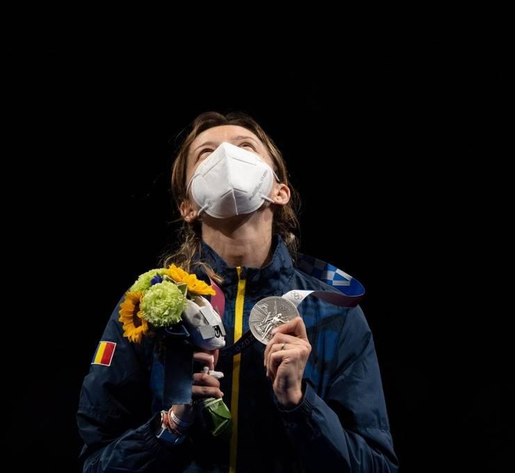 Scrimera română Ana-Maria Popescu, medaliată cu argint la JO