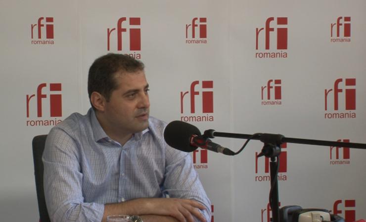Florin Jianu, în studioul RFI (arhivă)