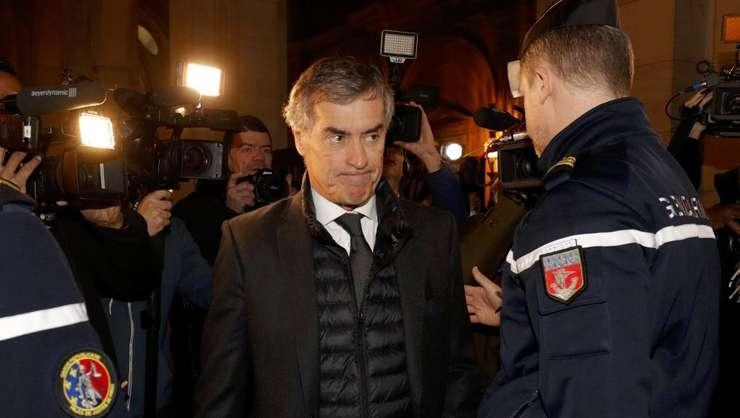 Jérôme Cahuzac sosind la Palatul Justitiei din Paris în decembrie 2016