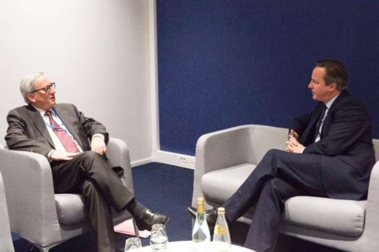 David Cameron la Bruxelles