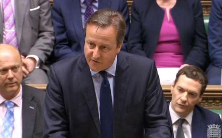 Premierul Cameron în Camera Comunelor