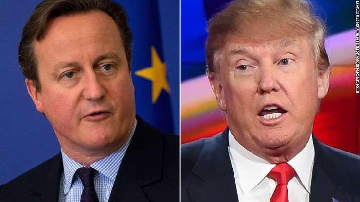 David Cameron și Donald Trump