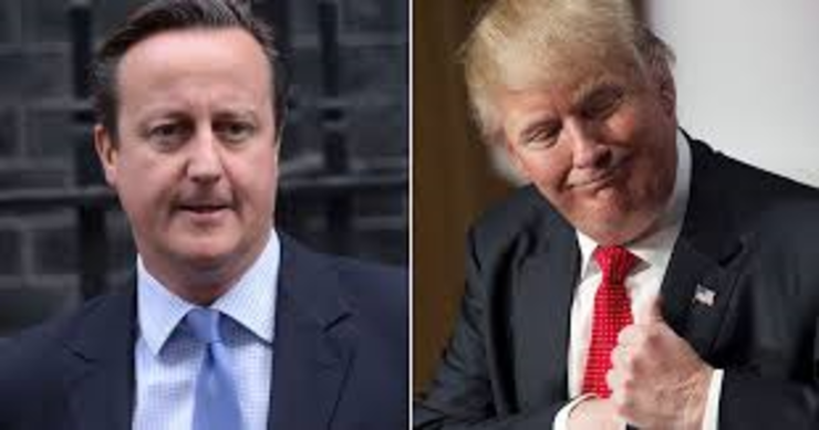 David Cameron și Donald Trump