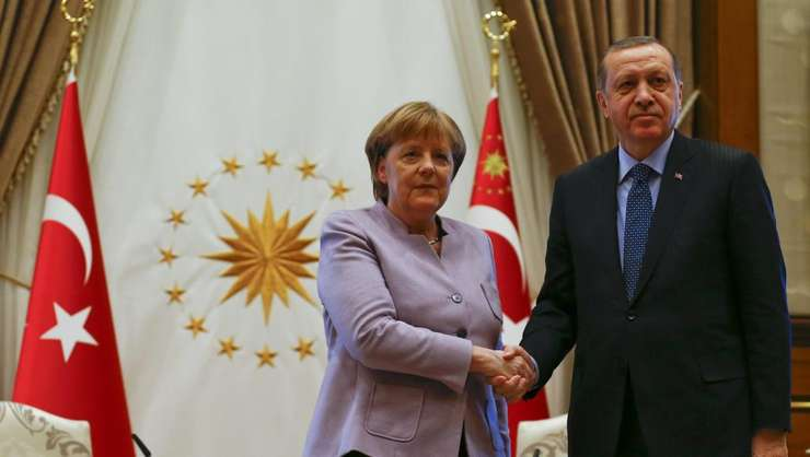 Cancelara Germaniei, Angela Merkel impreuna cu presedintele Turciei, Recep Tayyip Erdogan la Ankara, 2 februarie 2017